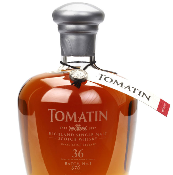 Tomatin silver bottle wax and seal
